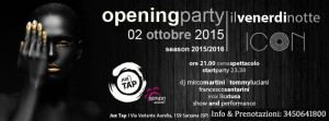 inaugurazione venerdì 2 ottobre 2015