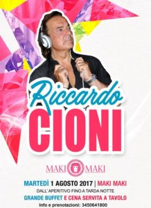 Martedì maki maki Riccardo Cioni Dj