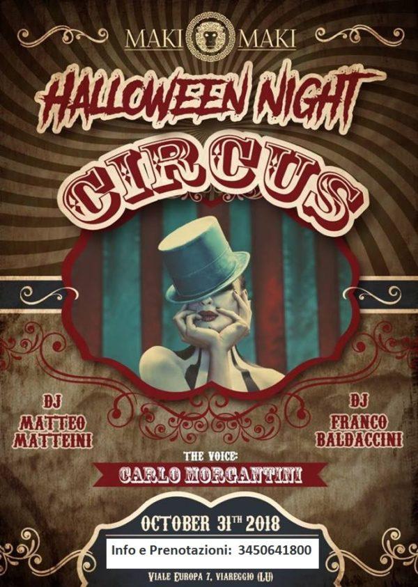 CIRCUS – Halloween 2018 MAKI MAKI Viareggio