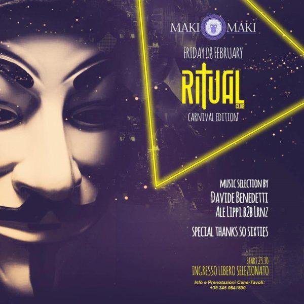 RITUAL Club Venerdì 8 Febbraio 2019 MAKI MAKI Viareggio Carnival Edition